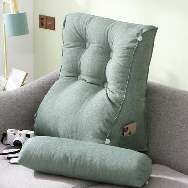 北歐可調節床頭亞麻靠枕可調節護腰款多功能腰靠飄窗客廳沙發靠墊