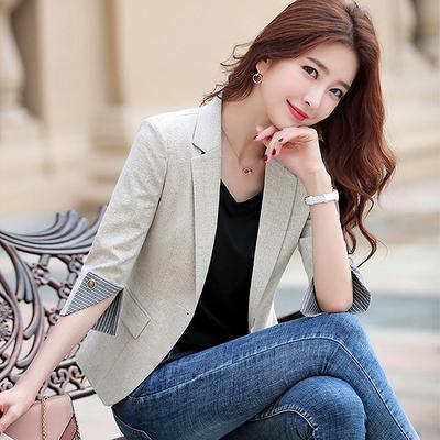 西裝外套小西裝外套女韓版休閒短款小西服上衣英倫風7162F062A紅粉佳人