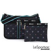 LeSportsac - Standard雙口袋A4大書包-附化妝包 (火烈鳥/黑) 7507P F181