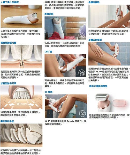 【大麥洋行】飛利浦頂級款美膚美體除毛刀 BRE650 (參考 HP6583 / HP6577)