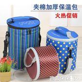 保溫飯盒袋鋁箔防水保溫便當包保溫桶袋午餐冰包『芭蕾朵朵』