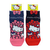 non-no儂儂褲襪《5入》日本製三麗鷗女短襪(kitty躲貓貓)3713-206