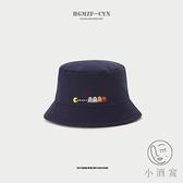 刺繡漁夫帽女遮陽帽惡魔盆帽太陽沙灘帽【小酒窝服饰】