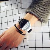 兒童手錶男女孩時尚潮流電子錶黑白防水韓版中小學生情侶手環錶igo 西城故事