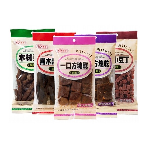 惠香 木材豆干/黑木柴豆干/方塊乾 (1包入) 款式可選【小三美日】