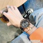 高級感霸氣黑色表盤手表女簡約氣質復古港風高顏值皮帶款十大品牌 極簡雜貨