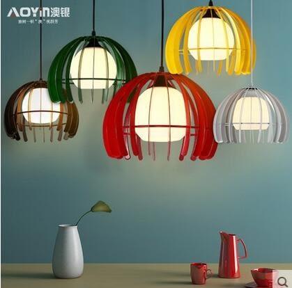 設計師美術精品館澳銀北歐藝術小吊燈簡約現代宜家玻璃餐廳燈創意房間臥室吧檯燈具