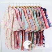 和服浴衣 和服睡衣 睡袍情侶日式和服浴衣全棉睡衣長睡裙汗蒸服-奇幻樂園