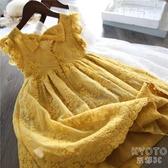 女童洋裝夏裝2020新款小女孩蓬蓬紗短袖洋氣兒童夏天公主裙子 京都3C