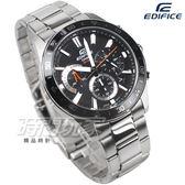 EDIFICE EFV-570D-1A 公司貨 三眼計時碼錶設計 賽車錶 男錶 黑色 EFV-570D-1AVUDF CASIO卡西歐