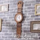 北歐復古鐘錶手錶式掛鐘客廳家用時尚臥室簡約純實木個性時鐘創意CY『新佰數位屋』