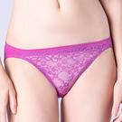思薇爾-花采柔媚系列M-XL蕾絲低腰三角內褲(紫水晶)