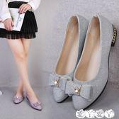 豆豆鞋 媽媽鞋春秋季豆豆鞋女平跟軟底上班鞋坡跟單鞋休閒女鞋子 新品