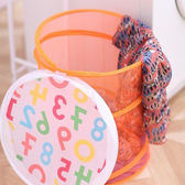 ♚MY COLOR♚可折疊彩網收納籃  髒衣 洗衣 玩具 分類  網桶 輕巧 懸掛 創意 透氣 大容量 【N170】