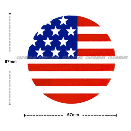 【愛車族購物網】國旗貼紙-圓形 (美國、英國-2款選擇) 6.7 × 6.7 cm