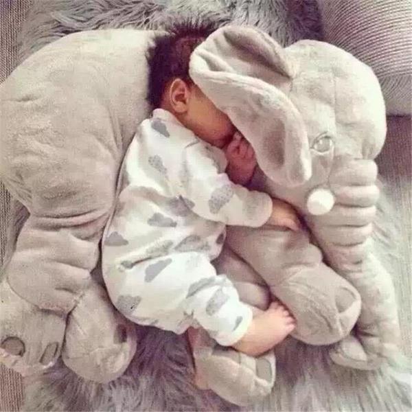 抱枕大象安撫抱枕頭毛絨玩具公仔嬰兒玩偶寶寶睡覺陪睡布娃娃生日禮物【快速出貨八折搶購】