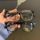 眼鏡框 ins超火小紅書同款小方框黑色粗框 2021新款可配防藍光眼鏡架 寶貝寶貝計畫 上新