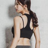 運動內衣女高強度支撐防震聚攏定型文胸夏瑜伽跑步專業背心式bra