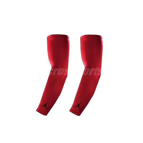 Nike 臂套 Jordan 男女款 袖套 籃球 跑步 運動 訓練 遮陽 紅 【PUMP306】 AC4142-605