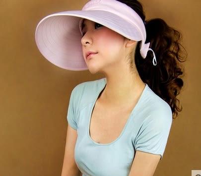 太陽帽女夏天戶外韓版遮陽帽防曬沙灘帽大沿可折疊防紫外線涼帽子 -uai0028