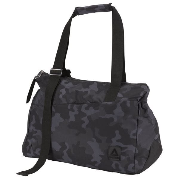 Reebok ENH LEAD & GO DUFFLE BAG 行李袋 肩背 健身 休閒 筆電 迷彩 黑 CV3551