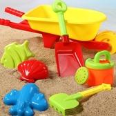 加厚沙灘手推車獨輪車兒童玩具