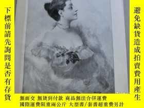 二手書博民逛書店【罕見】1890年木刻版畫《女士》(Dame mit Flied