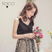 東京著衣【YOCO】唯美極致荷葉邊細肩帶上衣-S.M.L(180019)