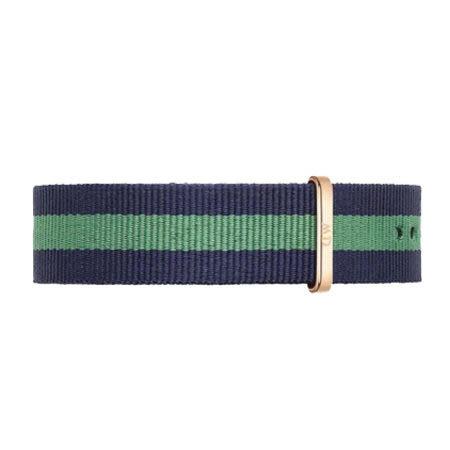 【公司貨】DW Daniel Wellington 藍綠帆布錶帶 尼龍錶帶 玫瑰金扣 20mm DW00200005錶帶 現貨!