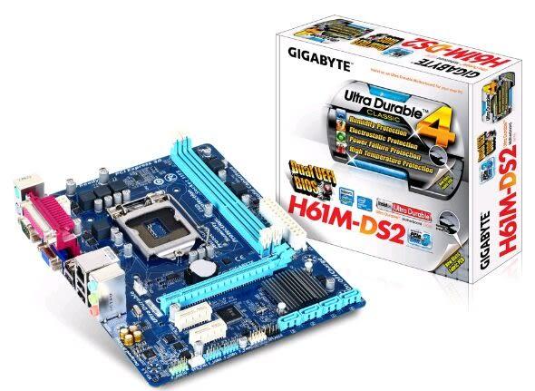 技嘉 GIGABYTE H61M-DS2 3.0 H61/LGA1155/D-Sub/全固態電容【刷卡含稅價】