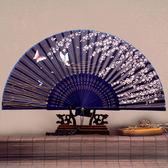 女式扇子 日式折扇中國風扇子 絹扇和風夏季女扇櫻花古風折疊扇子【萬聖節推薦】