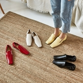 手工真皮女鞋34~40 2020新款牛皮方頭淺口低跟小皮鞋 ~4色