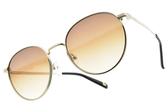 CARIN 太陽眼鏡 KATHARINE WI C2 (金-漸層棕鏡片) 韓星秀智代言 簡約迷人圓框款 # 金橘眼鏡