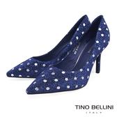 Tino Bellini派對時光水玉妝點跟鞋_藍 TF8591