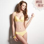 曼黛瑪璉-輕氧Bra  B-E罩杯內衣(舒眠黃)