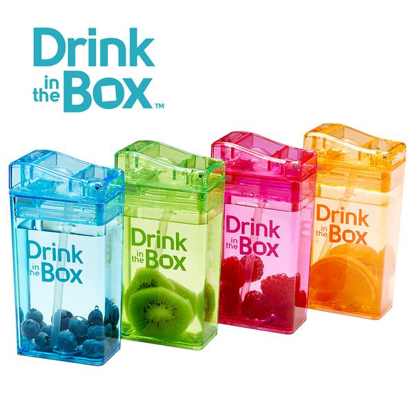 Drink in the box 加拿大 兒童戶外方形吸管水杯 / 水壺 235ml -夢幻紫