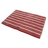 短毛緞染雪尼爾吸水踏墊 65x45x1cm 紅色款