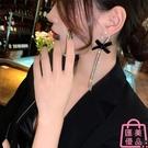 耳環氣質高級感大氣長款蝴蝶結流蘇耳飾女時尚【匯美優品】