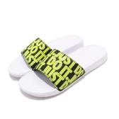 Nike 涼拖鞋 Benassi JDI Print 白 綠 滿版 Just Do It 男鞋 女鞋 涼鞋 拖鞋【PUMP306】 631261-103