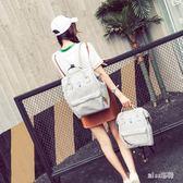 韓版校園媽咪雙肩男女帆布離家出走雙肩休閒包  JL2571『miss洛雨』TW