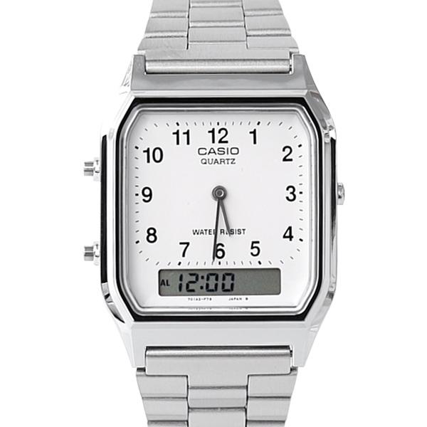 CASIO卡西歐 方型數字雙顯腕錶 柒彩年代【NEC92】