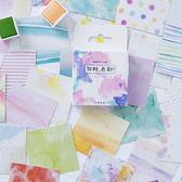 【BlueCat】你好色彩潑彩盒裝貼紙 手帳貼紙 (45入)
