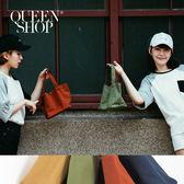 Queen Shop【06020100】純色素面輕巧手提休閒小包 四色售*預購*