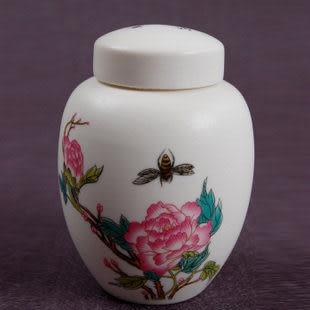白茶葉罐國色天香