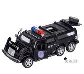 聲光感官玩具悍馬合金車模警車模型玩具聲光回力玩具小汽車兒童(中秋烤肉鉅惠)