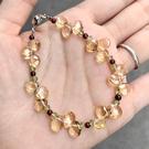 『晶鑽水晶』天然黃水晶+石榴石+橄欖石手...