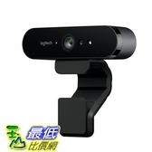 [106美國直購] Logitech 高清網路攝像頭 BRIO – 4K Ultra HD Webcam – 5x Digital Zoom Calling