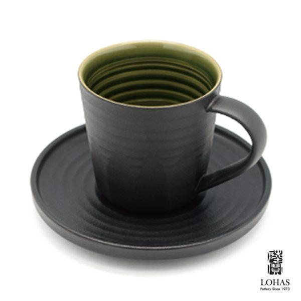 陸寶 【 手感杯套組 】杯+ 托盤 原礦陶 活水釉層
