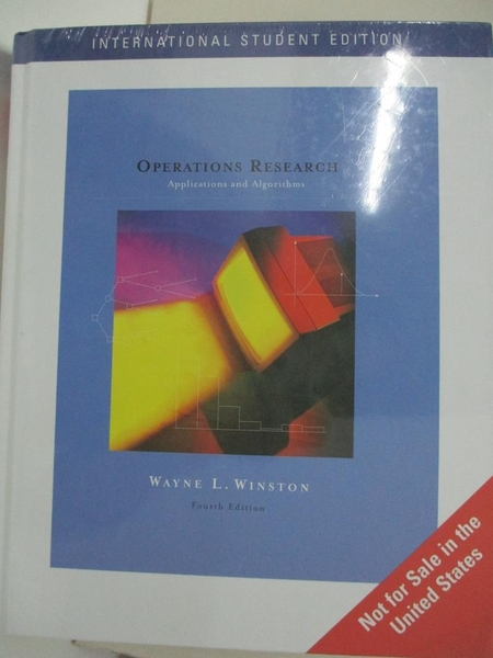 【書寶二手書T4/大學理工醫_I5A】Operations Research 4/e_Winston