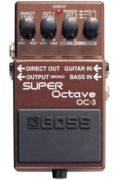 【金聲樂器廣場】全新 BOSS OC-3 Super Octave 超級八度音